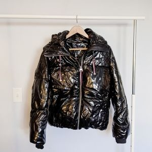 Tommy Hilfiger Shiny Puffer Jacket in Black